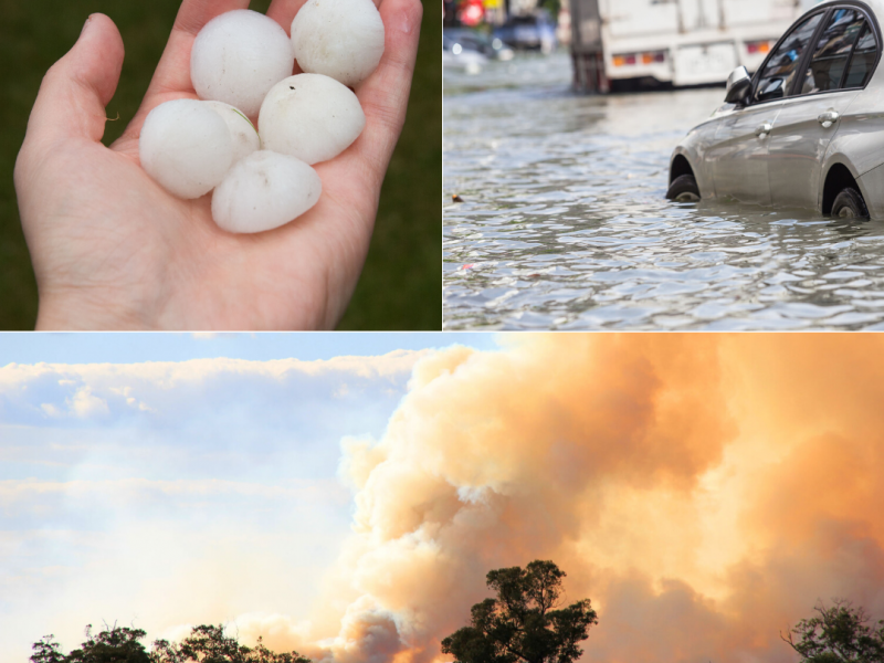 Hail, cyclones, fires. Extreme weather in sydney